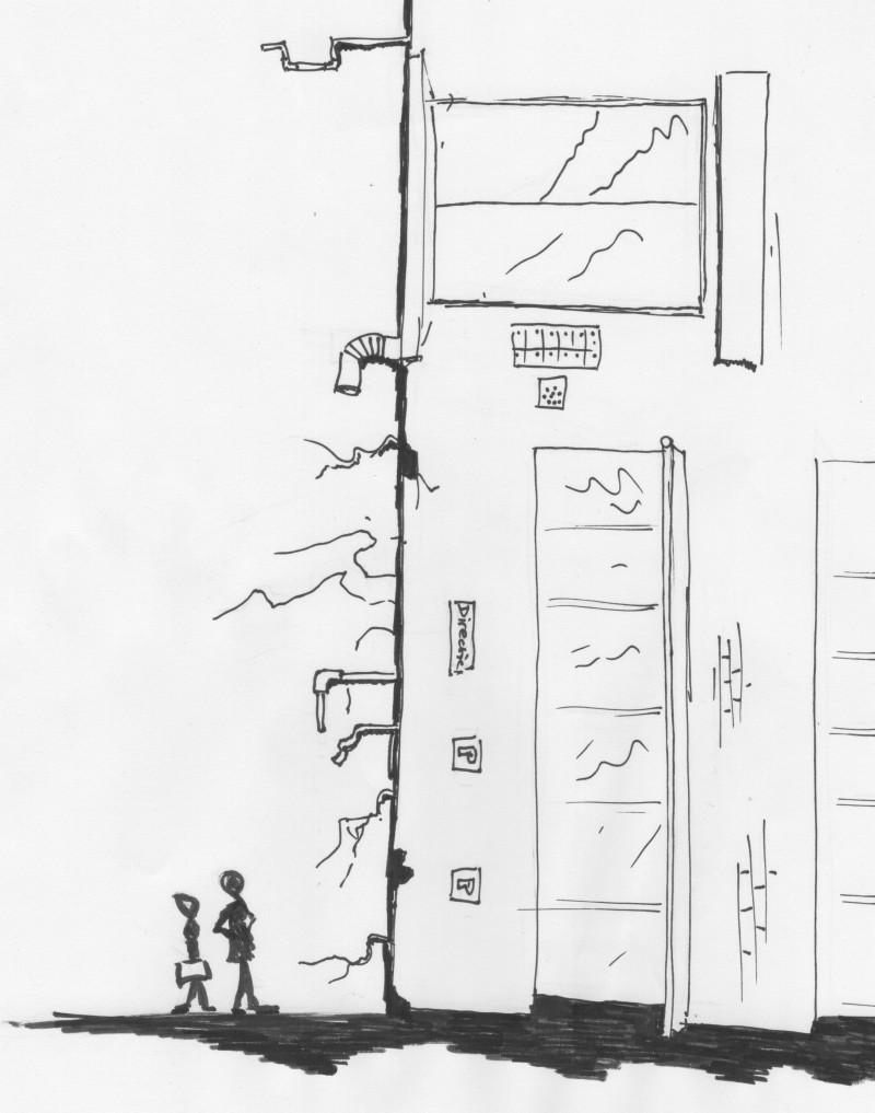Cartoon van een gekantelde organisatie van Meine van der Graaf